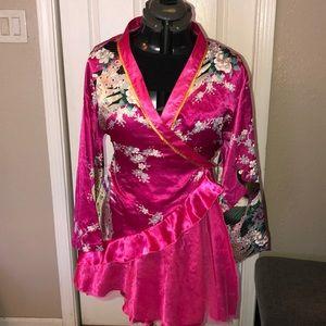 Beautiful pink kimono dress